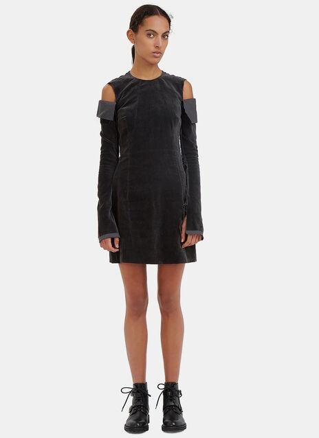 Torn Velvet Mini Dress