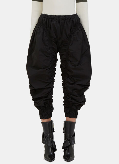 Ruched Cropped Jodhpur Pants