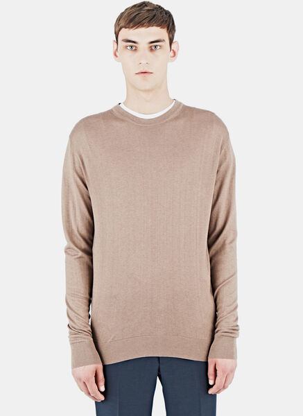 Image of AIEZEN Cashmere and Silk Knit T-shirt