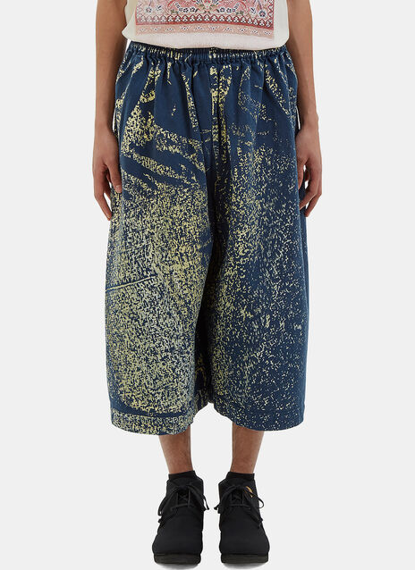 Oversized Hand-Painted Dropped Crotch Pants