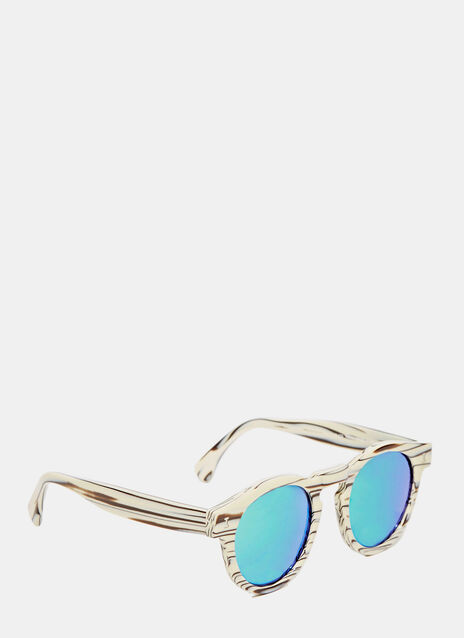 Leonard Eco Cream Marble Sunglasses
