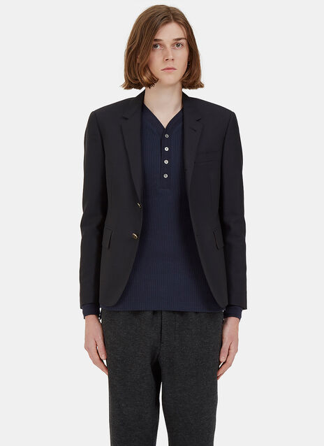 Classic Single-Breasted Blazer Jacket