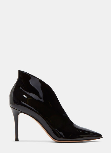 Vania Patent Stiletto Heeled Ankle Boots