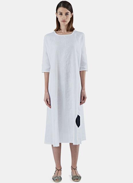 Oversized Short Sleeved Dot Tent Dress