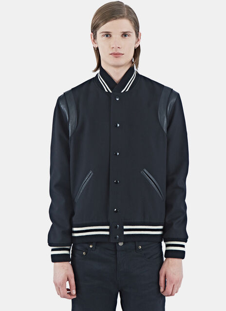 Leather Band Teddy Bomber Jacket
