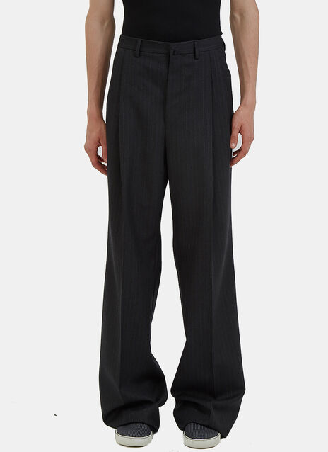 Oversized Wide Leg Pinstripe Pants