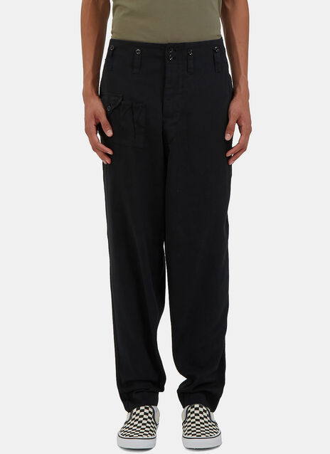 Twill Buttoned Work Pants