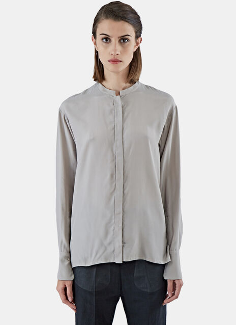 Long Sleeved Sill Blend Blouse