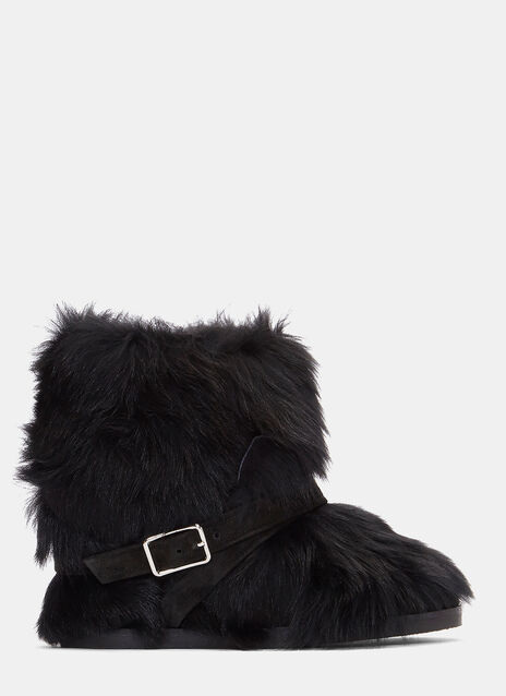 Cortina Furry Buckled Ankle Boots