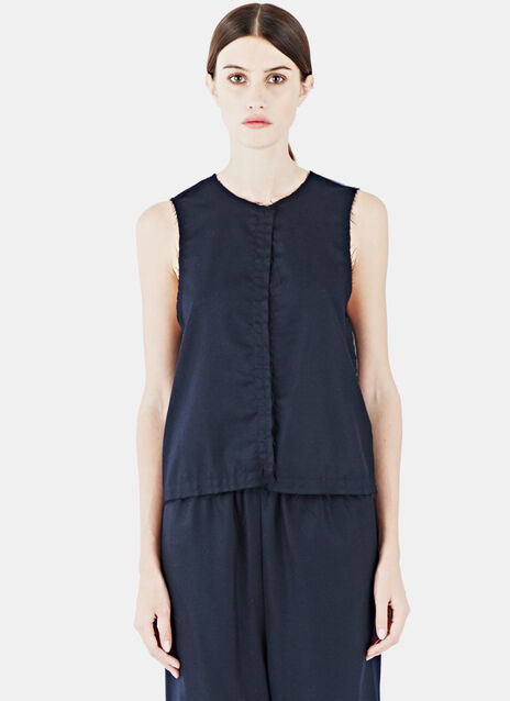 Two-Tone Rough Vest Top