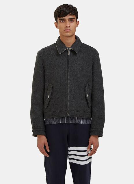 Military Weight Cashmere Harrington Jacket