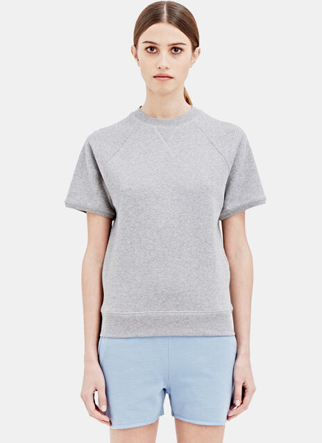 Sunspel Loopback Short Sleev Raglan Top