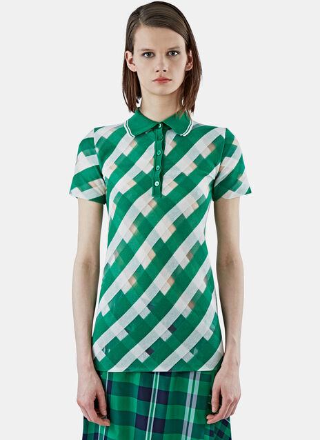 Transparent Checked Polo Shirt