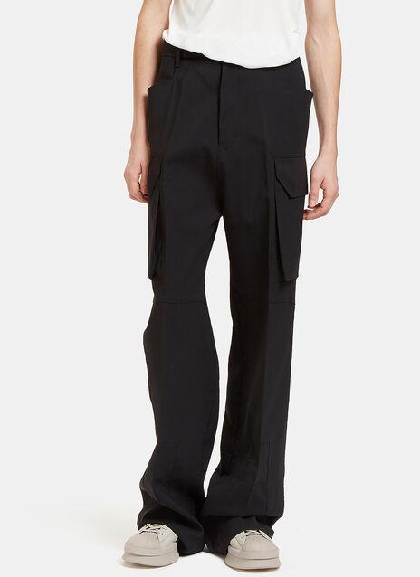 Flat Wide Leg Cargo Pants