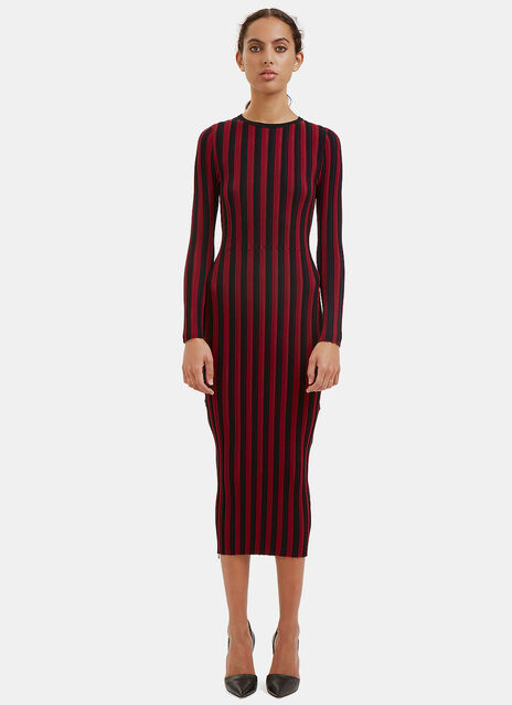 Amelia Striped Rib Dress
