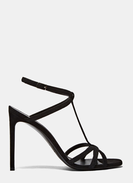 Jane Suede Strappy Heeled Sandals