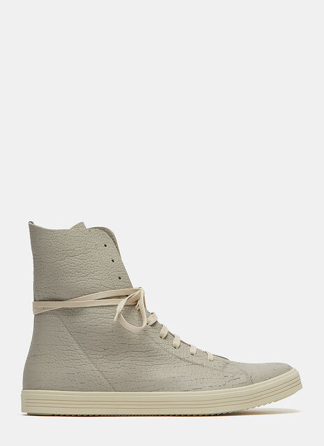 High-Top Cracked Leather MastoSneakers
