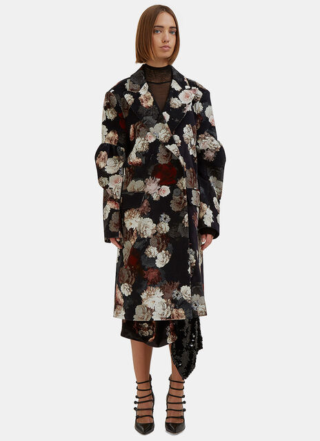 Sitwell Oversized Floral Velvet Coat