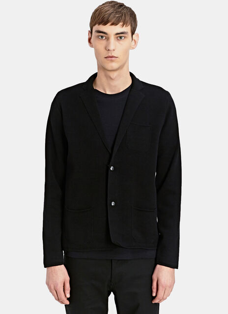 Slim Fit Knitted Blazer Jacket