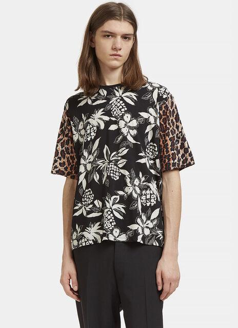 Hibiscus Leopard Print T-Shirt