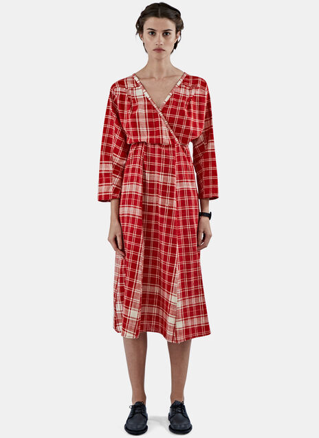 Queen to Peasant Checked Dress