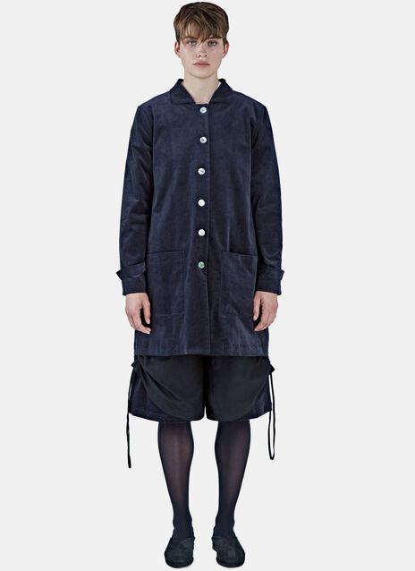 Mid-Length Fine Corduroy Coat