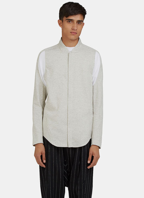 Arc Apres Zip-Up Flecked Shirt