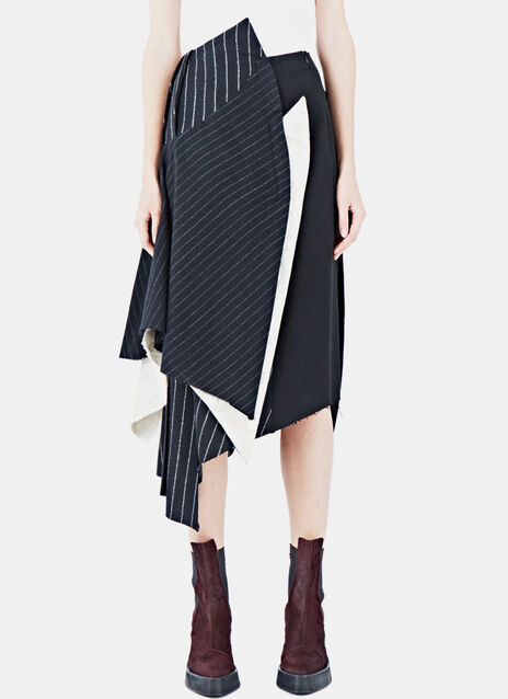 Layered Pinstripe Skirt