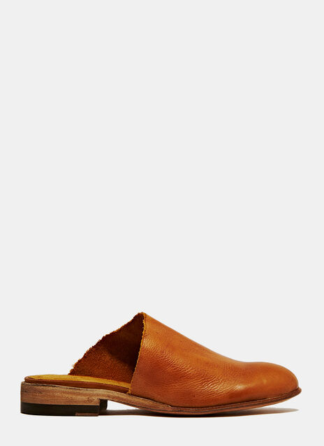 PETRUCHA STUDI BROWN VEGAN CLOGS WITH HEELS