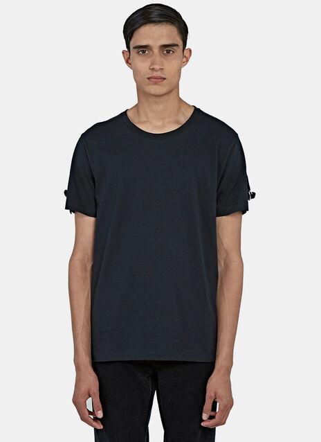 Strapped Round Neck T-Shirt