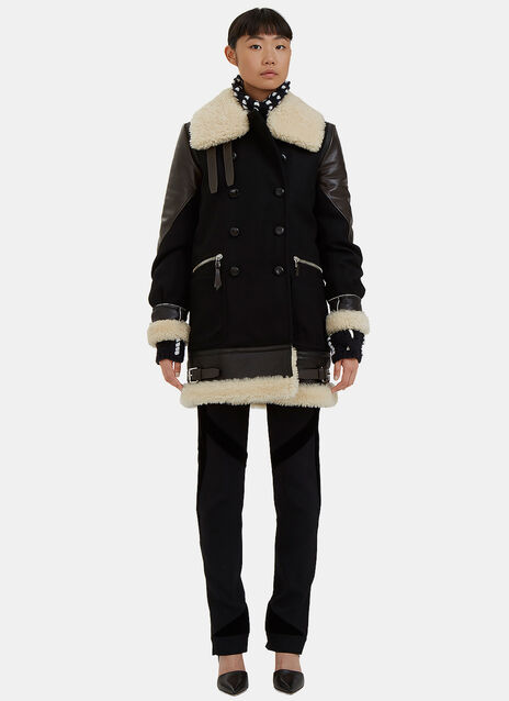 Ismir Double-Breasted Shearling Coat