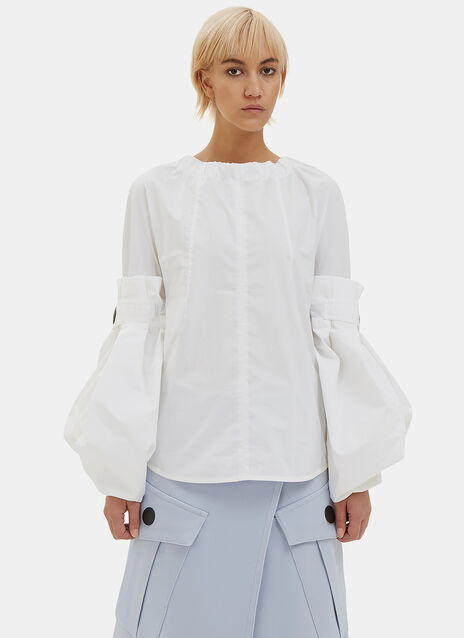 Oversized Convertible Poplin Blouse