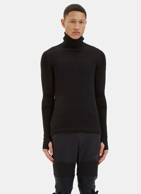 Varied Rib Roll Neck Sweater