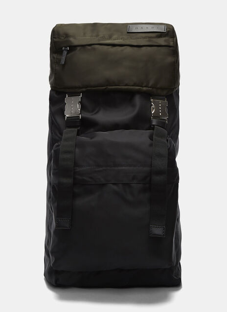 Oversized Bi-Colour Backpack