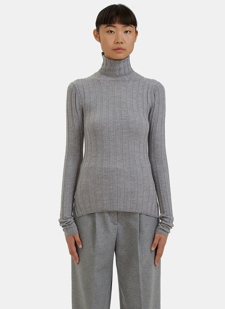 Corin Ribbed Roll Neck Sweater