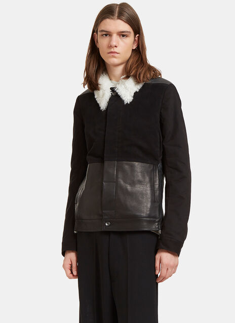 Shearling Contrast Sliced Worker Jacket