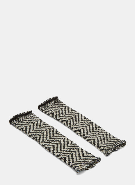 Chevron Knit Fingerless Gloves