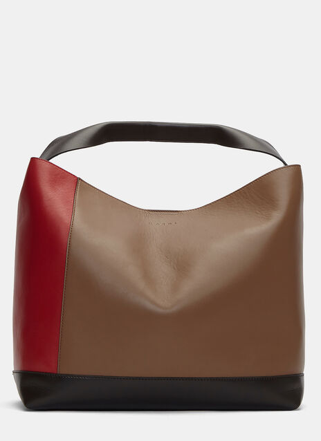 Contrast Panelled Pod Tote Bag
