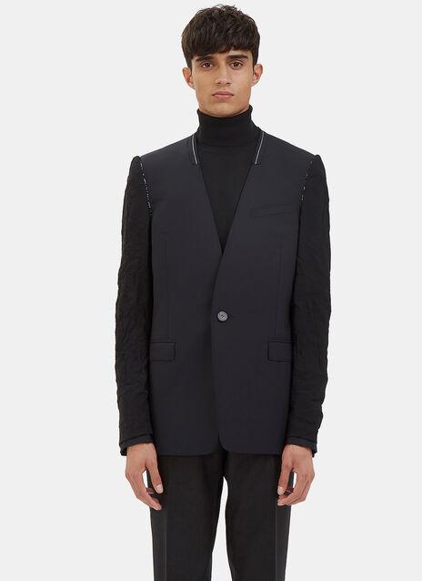 Deconstructed Inside-Out Sleeved Blazer Jacket