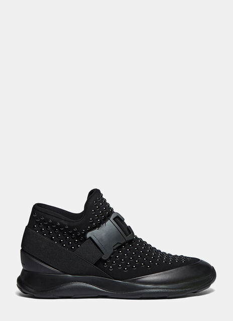 High-Top Studded Neoprene Sneakers