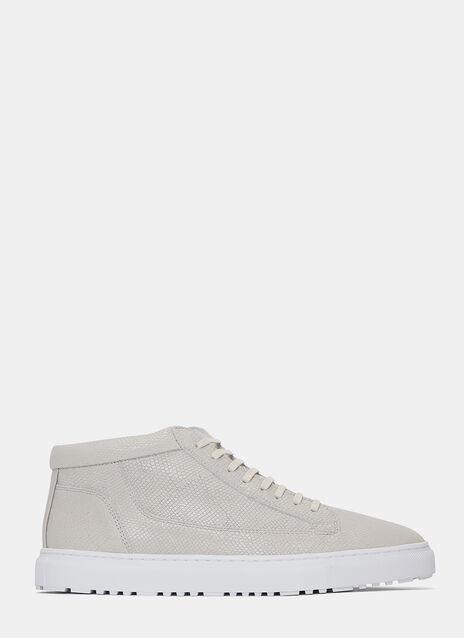Mid 1 Iguana Embossed Sneakers