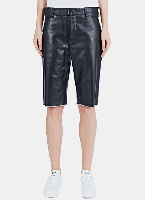 Diana Long Leather Shorts