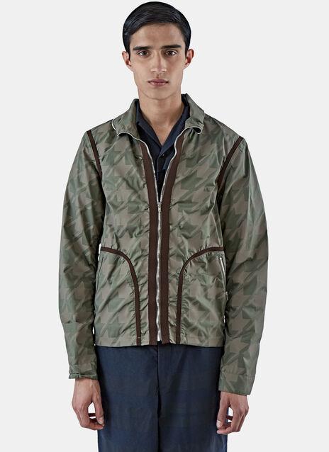 Short Geometric Camo Jacket
