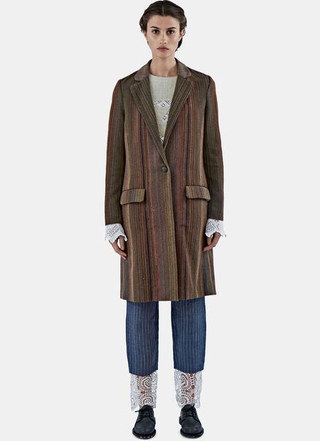 Rainbow Striped Coat