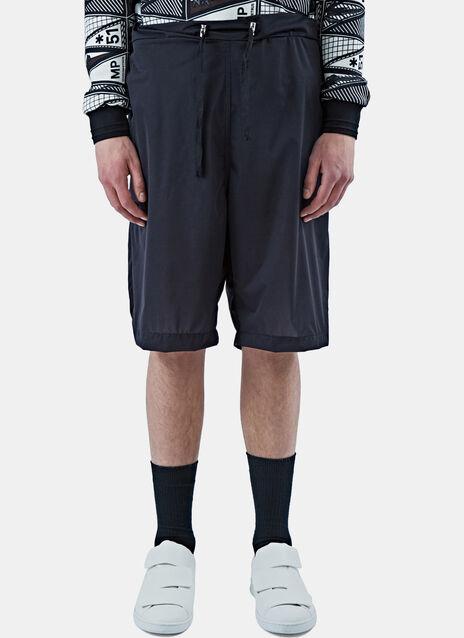 Long Tactile Drawstring Shorts