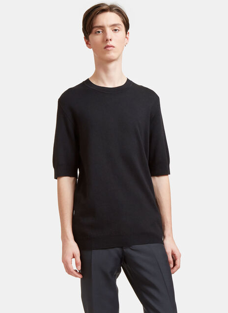 Cashmere and Silk Knit T-shirt