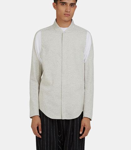 Arc Apres Zip-Up Flecked Shirt