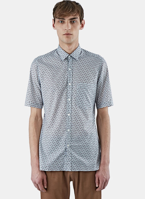 Slim fit Chevron Print Cotton Shirt