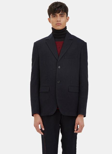 Classic Subtle Pinstripe Blazer Jacket