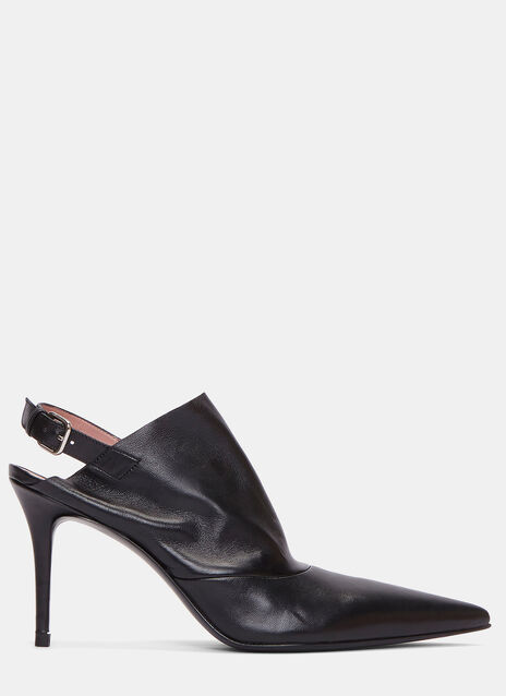 Priscilla Stiletto Heeled Pointed Mules